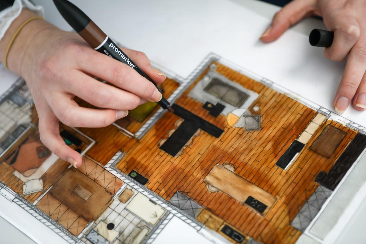 Plan maison: école CREAD architecture intérieure